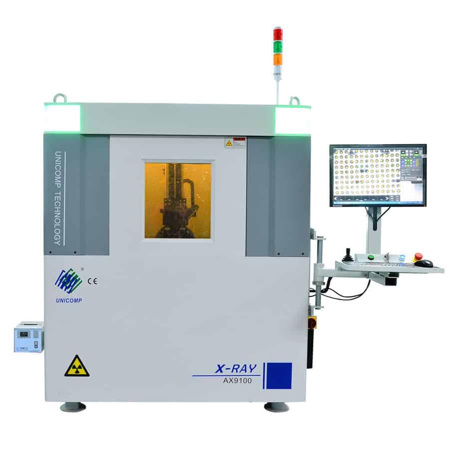 Máy X-Ray kim loại của UNICOMP kết nối và phân tích BGA AX9100