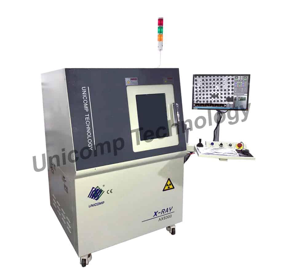 Máy X-Ray AX8300 Unicomp quang Điện tử SMD Máy dò Xén