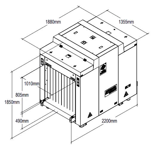 Máy phát hiện an toàn công cộng X-Ray UNX10080-EX trực tuyến