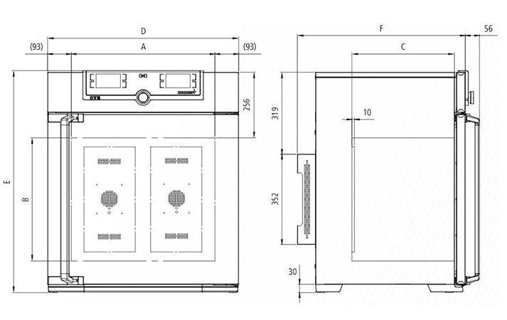 Kích thước Tủ Vi Khí Hậu Memmert HPP1400