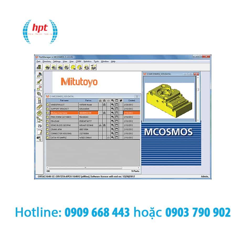 Phần mềm máy đo tọa độ MCOSMOS