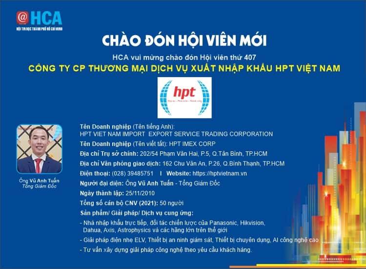 HPT Việt Nam gia nhập Hội Tin học thành phố Hồ Chí Minh - HCA