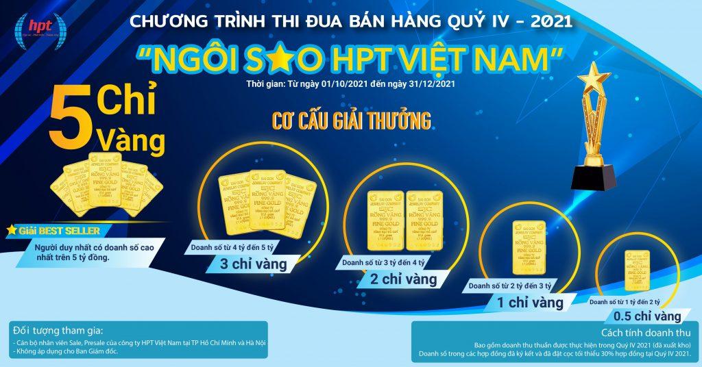 """Chương trình thi đua bán hàng Quý IV 2021 - """"Ngôi sao HPT Việt Nam"""""""
